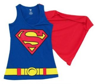 Superman Logo Juniors Cape Tank Top: Clothing