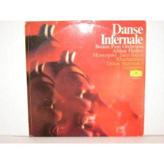 """DANSE INFERNALE""/FIEDLER, BOSTON POPS (also incl. Sabre Dance, Sorcerer's Apprentice, Danse Macabre, Night on Bald Mountain)   DGG 2584004 [LP RECORD] Music"