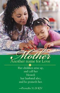African American Mother's Day Bulletin 2010, Regular Size (Package of 50) Her children arise up, and call her blessed; her husband also, and he praiseth her.  Proverbs 3128 (9780687467051) Books