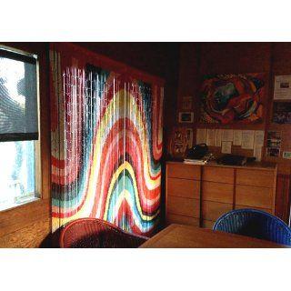 Color Art Waves Beaded Curtain 125 Strands (+hanging hardware)   Door Beads