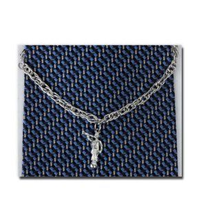 Angel Moroni (Silver) Tie Chain. A Mormon Clothing Accessory   Jewelry to Wear to Church   Great Gift Idea   Religious and for Anyone   Wonderful for Neck Ties and Clothing   Inexpensive Item   Beautiful detailed Angel Moroni    Fabric Decorating Supplies