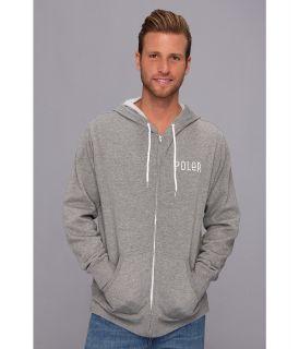Poler Venn Diagram Zip Hoodie Mens Sweatshirt (Gray)