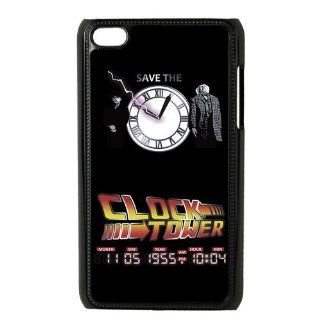 Custom Your Own Back To The Future Save The Clock Tower Ipod Touch 4 case, Special Designer Back to the future Ipod 4 Case : MP3 Players & Accessories