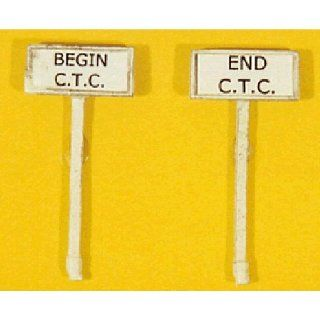 HO Scale Custom Railroad Right of Way Signs    Begin/End CTC pkg(2) Toys & Games