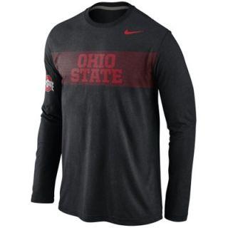 Nike Ohio State Buckeyes Energy Long Sleeve Tri Blend T Shirt   Black   FansEdge