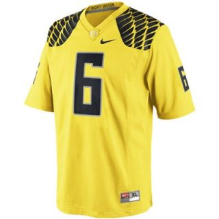 Nike Oregon Ducks #6 Youth Game Football Jersey   Yellow