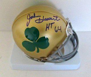 John Huarte Autographed Notre Dame Gold Mini Helmet w/ Clover Logo HT 64 JSA 2 Sports Collectibles