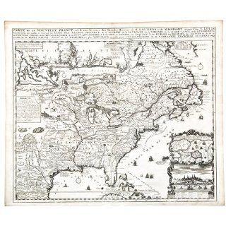 Art: [North America] Carte de la Nouvelle France : Engraving : Henri Abraham Chatelain