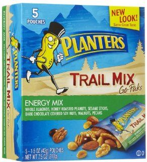 Planters Trail Mix, Energy Mix, 1.5 oz, 5 ct : Grocery & Gourmet Food