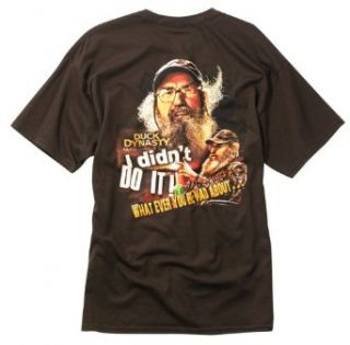 Duck Dynasty I Didn't Do It Si T Shirt Medium Chocolate at  Men�s Clothing store