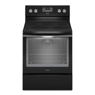 Whirlpool Black Ice Smooth Surface Freestanding 5 Element 6.2 cu ft Self Cleaning Convection Electric Range (Black Ice) (Common 30 in; Actual 29.875 in)