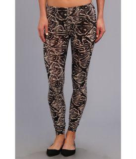 Steve Madden Tribal Poly/Spandex Print Legging Womens Casual Pants (Black)