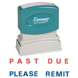 Xstamper Two color Stamp   Past Due Please Remit  Business Stamps