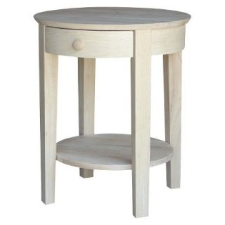 Accent Table Telephone Stand   Unfinished