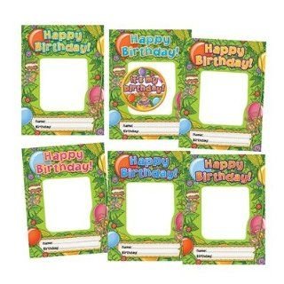 Edupress Happy Birthday Monkeys Frame Accents : Themed Classroom Displays And Decoration : Office Products