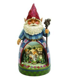 Jim Shore   Heartwood Creek   Garden Gnome w/Solar Lit Diorama Scene by Enesco   4011481Q : Jim Shore Statues : Patio, Lawn & Garden