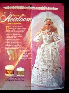 "DOLL WEDDING DRESS TO CROCHET   FITS ANY 11 1/2"" DOLL   EVEN HAS GARTER BELT! : Everything Else"