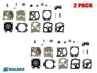 Genuine Walbro K20 WAT Carburetor Repair Kit for Husky Saw 51 / 55 Trimmer TD18DVX, Stihl 026 / 1121 (2 Pack)