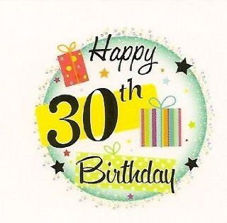 Happy 30th Birthday ~ Edible Image Cake Topper : Decorative Cake Toppers : Everything Else