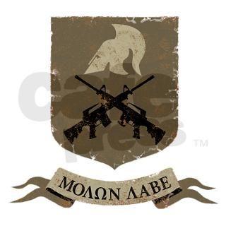 Molon Labe, Come and Take Them Square Sticker 3 x by alphax