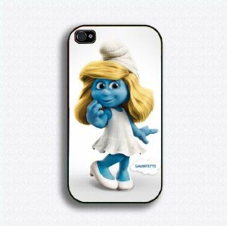 the smurfs smurfette 6 iphone case for 4 and 4s plastic black color: Everything Else