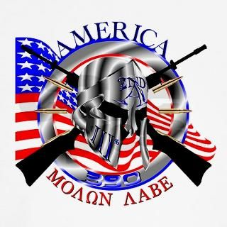 Molon Labe 390 Long Sleeve T Shirt by redpawgraphics