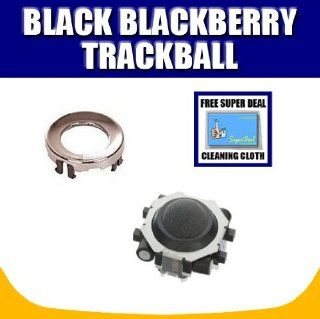 Jet Black Blackberry Trackball / Joystick / Navigate / Pearl / Ring Repair Replacement Fix Fixing for Rim Blackberry Pearl 8100 8130 Curve 8300 8310 8320 8800 8820 8830 Plus Opening Tool with Exclusive FREE Complimentary Super Deal Micro Fiber Cleaning Clo