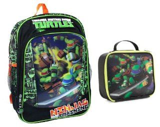 "Teenage Mutant Ninja Turtle 3D FX 16"" Backpack & Matching Lunch Toys & Games"