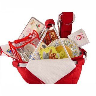 Red White Family PicNic Basket Gift Set, Something for Everyone   Cocktail Forks