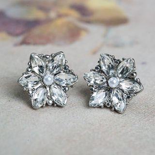jeana diamante clip on stud earrings by anusha