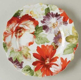 222 Fifth (PTS) Natural Curiosities Salad Plate, Fine China Dinnerware: Kitchen & Dining