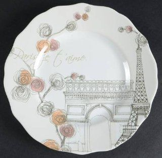 222 Fifth (PTS) Lissome Salad Plate, Fine China Dinnerware: Kitchen & Dining