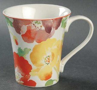 222 Fifth (PTS) Jolly Poppy Mug, Fine China Dinnerware: Kitchen & Dining