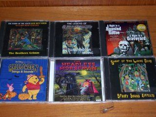 Halloween 6 pack bundle: Walt Disney Halloween Songs and Sounds   Mickey, Goofy, Tigger, Winnie the Pooh, Piglet / A night in a Haunted House/A Night in a Graveyard / The Headless Horseman / The Legend of Sleepy Hollow / Swamp of the Living Dead (Spooky So