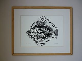john dory lino cut print by lost and found @ mike jones furniture