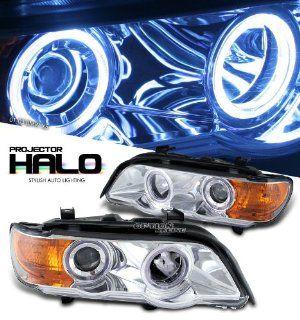 01 03 BMW X5 CHROME HOUSING PROJECTOR HEADLIGHT W/HID HALO RING  Automobiles