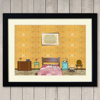 another world love print a2 size by anais woolf illustration