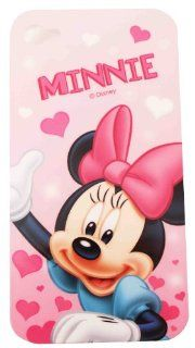 BUKIT CELL Disney � Minnie Mouse HARD BACK PIECE Faceplate Protector Case Cover (Minnie with Pink Hearts CS) for Apple iPhone 4S / 4G / 4 (Fits any carrier AT&T, VERIZON AND SPRINT) + Free WirelessGeeks247 Metallic Detachable Touch Screen STYLUS PEN wi