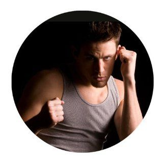 Custom Channing Tatum Mouse Pad Standard Round Mousepad WP 247 : Office Products