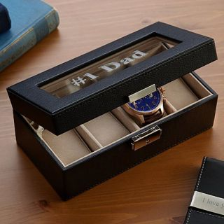 Personal Creations Mini Faux Leather Watch Box