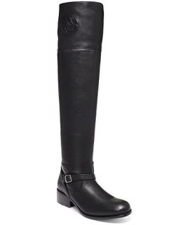 Frye Womens Lynn Logo Over The Knee Boots   Shoes