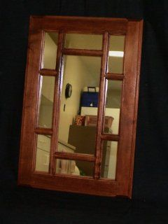"""(WM 230) Solid Maple 10 Lite Style Wall Mirror 16""""w x 30""""h, Enamel Finish or stain finish, Easy to hang with two hidden mounts"""