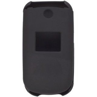 Two Piece Soft Touch Snap On Case for LG 230, LG230   Black Cell Phones & Accessories