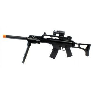 ELECTRIC Assault Rifle Tactical Super Army Electric Airsoft Gun FULL AUTO Bi Pod FPS 230, Mock Scope, Bipod, Flashlight : Sports & Outdoors
