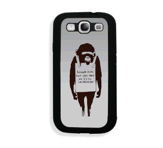 Bansky Graffiti Art Monkey Samsung Galaxy S3 SIII i9300 Case Fits   Samsung Galaxy S3 SIII i9300: Cell Phones & Accessories