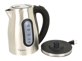 Capresso H2O PRO   Brushed Stainless Water Kettle Silver/Black