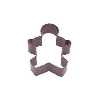 """Gingerbread Man Cookie Cutter 3.5"""" Poly Brown   Gingerman Cookie Cutter"""