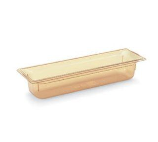 "Vollrath 9054410 Half Size Long Hot Food Pan   4"" Deep, Amber, Pack of 3: Health & Personal Care"