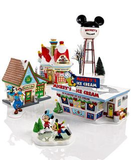 Department 56 Mickeys Christmas Village Collection   Holiday Lane