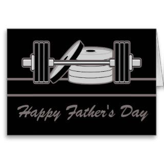 Bodybuilder Happy Fathers Day Greeting Cards